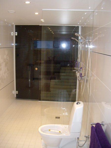 [:et]Klaasist saunasein[:fi]Ovellinen lasinen saunaseinä [:ru]Стеклянная стена сауны с дверью